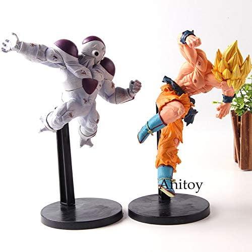 Yvonnezhang Dragon Ball Match Makers Free Power Freezer Freezer VS Super Saiyan Son Gokou Son Goku DBZ Figuras de acci/ón Colecci/ón Modelo Juguetes B sin Caja al por Menor