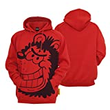 Beano Gnasher Kids Red Hoodie - Official Brand Hooded Sweater (8-10 Years)