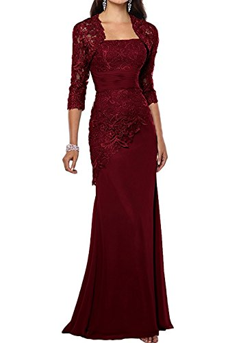 f5da03d9fdd Pretygirl Women s Lace Long Mother of The Bride Dress with Jacket Formal  Evening Gowns (US 8