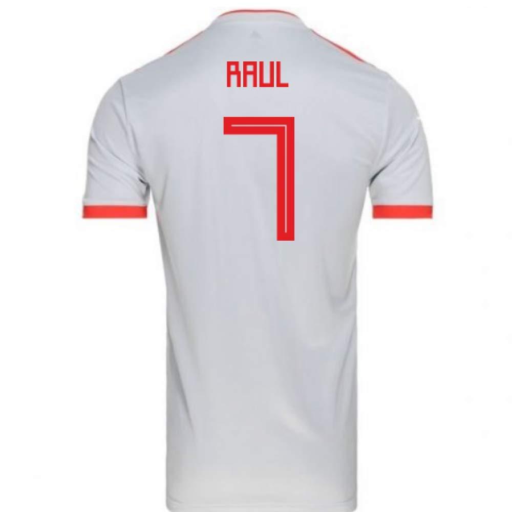 100%の保証 2018-2019 Spain Away Adidas Football Shirt Football (Raul 7) Away B07H9RLBVJ 34-36