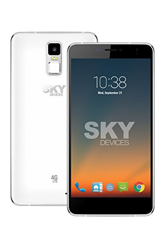 SKY Devices – Elite 6.0L+, 4G LTE Android Unlocked Smartphone, 13MP/5MP Cameras, 8GB Storage, 1GB RAM - Silver by SKY Devices