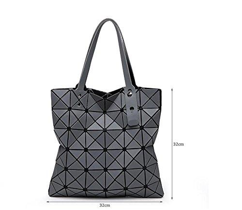 mate Bao de Bao para marrón Baobao mujeres Bolso Bao Bolsas de Bolsas Geometry de asa diamante Medio Negro de color plegables de 1 7wxa1IFqg