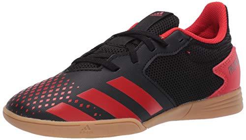 adidas Kids' Predator 20.4 Indoor Sala Soccer Shoe, core Black/Active red/core Black, 5