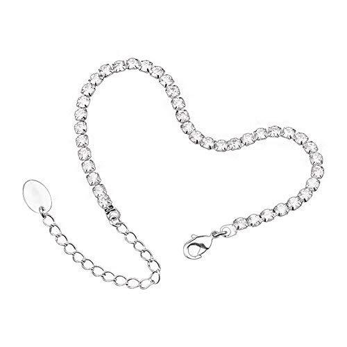 OUXI Round-cut Cubic Zirconia Tennis Bracelet Chain for Women,6.2
