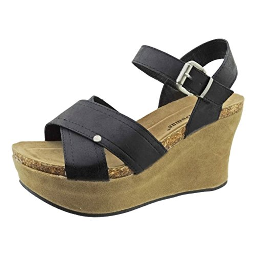 4df31713a64 Pierre Dumas Hester-9 Women s Vegan Leather Strappy Ankle-Strap Wedge  Sandals free shipping