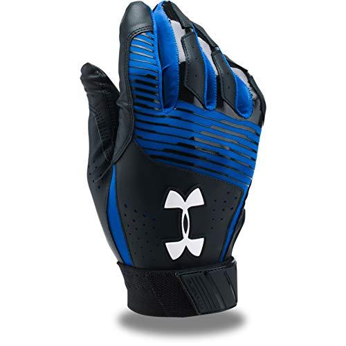 Under Armour Men's Clean Up Baseball Batting Gloves, Black (003)/White, Large