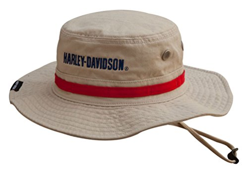 - Harley-Davidson Men's Embroidered #1 Boonie Cotton Twill Hat, Khaki HD-477