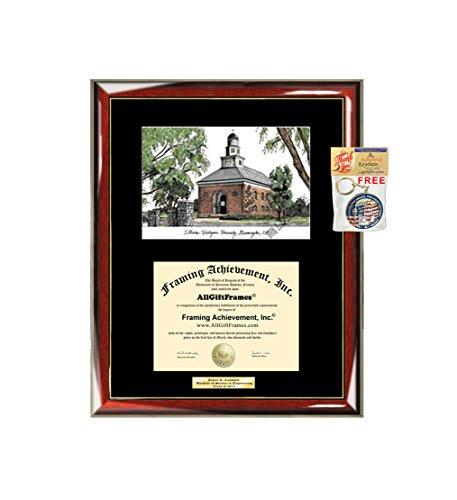 - AllGiftFrames Illinois Wesleyan University IWU Diploma Frame Lithograph Degree Graduation Framing Black Matted Engraved Custom University Graduate Gift Holder Case