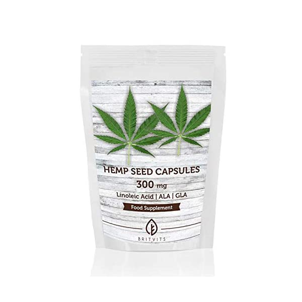 Hemp Seed Oil 300mg Fatty Acid Health Supplement x 60 Capsules