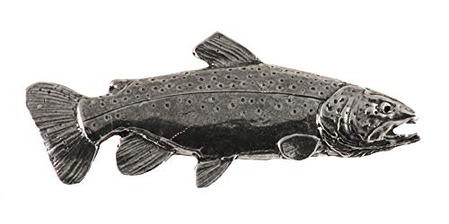 Brown Trout Fish Freshwater Fish Pewter Lapel Pin, Brooch, Jewelry, F011 ()