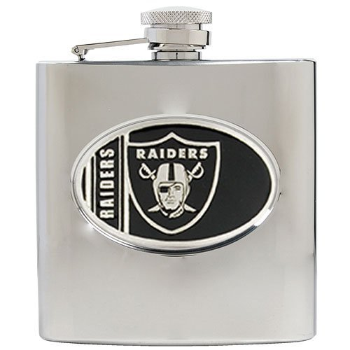 (NFL Oakland Raiders 6oz Stainless Steel Hip Flask)