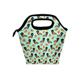 Best PackIt Ladies Lunch Bags - Lunch Tote Bag Dachshund Hot Dog and Fries Review