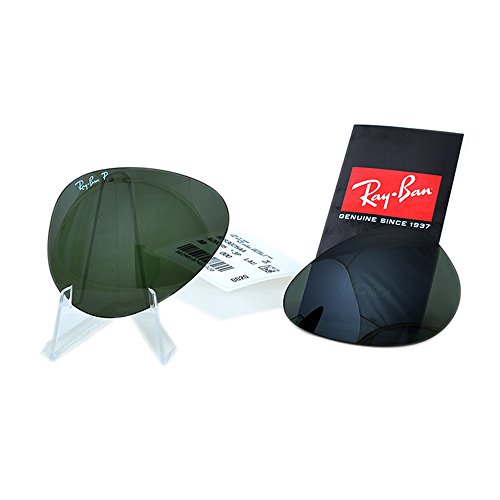 Authentic Original Aviator Replacement Lenses Ray-Ban RB3025 G-15 Green 58mm - For Lens Bans Ray Replacement