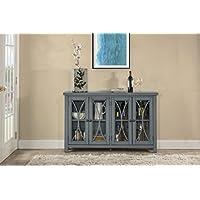 Bayside Four (4) Door Cabinet - Robin Egg Blue