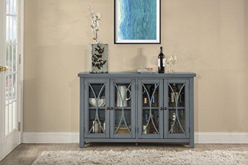 - Hillsdale Bayside Four (4) Door Cabinet - Robin Egg Blue