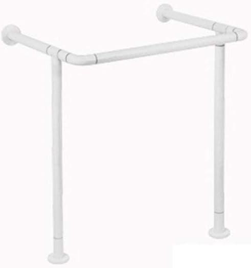 Bathroom safety rails Bathroom safety rails Accessible floor-standing handrails Compression nylon elderly disabled rehabilitation aid handle Bearing 300kg (Color : White)
