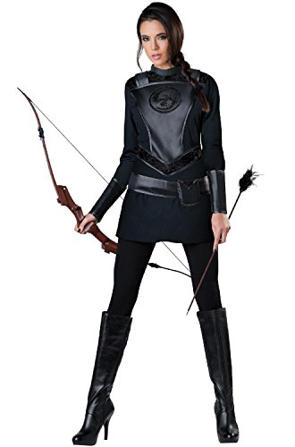 InCharacter Costumes Women's Warrior Huntress Costume, Black, Large