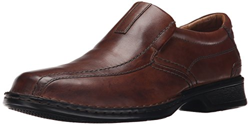 Clarks Men's Escalade Step Slip-on Loafer- Brown Leather 11 2E US (Clarks Shoe Man)