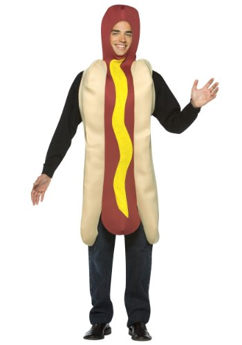Hot Dog Costumes For Dogs (Rasta Imposta Lightweight Hot Dog Costume, Multi-Colored, One Size)