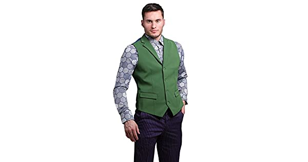 Amazon.com: El Joker Suit Chaleco (Authentic), M, Verde ...