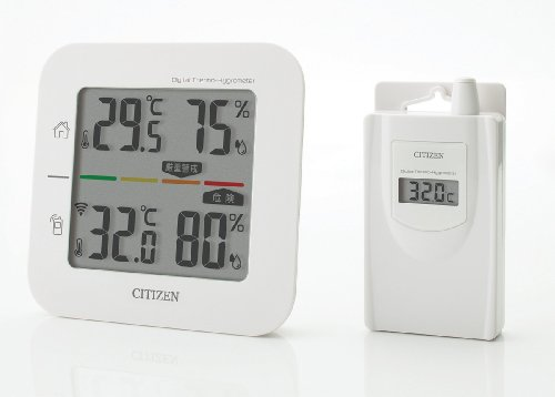 Price comparison product image Citizen cordless temperature and humidity meter (Simple heatstroke indexed display) THD501
