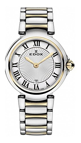 Edox Women's 57002 357RM AR LaPassion Analog Display Swiss Quartz Two Tone Watch