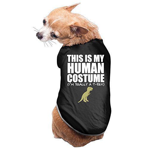 Dog Human Costume (This Is My Human Costume I'm Really A T-REX Cute Dog Shirt For Pet Puppy)