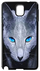 Great Samsung Galaxy Note3 N9000 Cases the Black Cat in the Dark Back Covers Durable Case