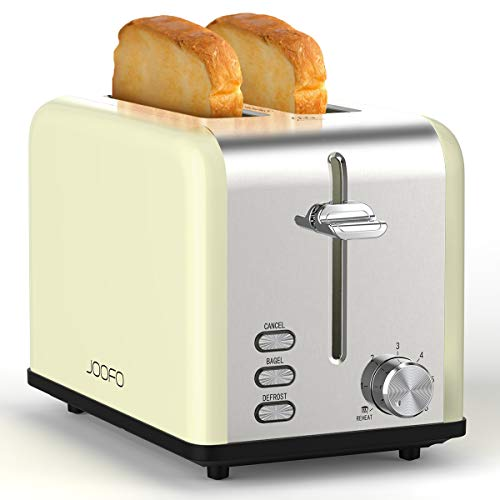 JOOFO Toaster, Toaster 2 Slice 6 Bread Shade Settings Bread Toaster, Extra Wide Slot and Removable Crumb Tray Toasting…