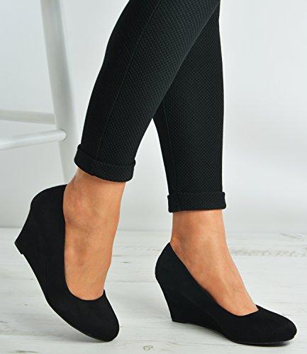 Cucu Fashion - Sandalias con cuña mujer negro