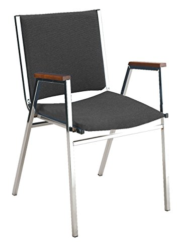 Commercial Seating (KFI Seating 411 Stacking Chair, 1-Inch, Commercial Grade, Black Vinyl, Made in the USA)