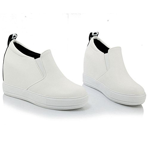 Coolcept White 2 Tacon Mujer de Cuna Bombas Zapatos rrCFwT