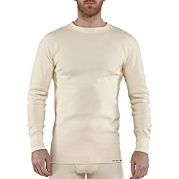 Carhartt Men\'s 100639 Force Heavyweight Cotton Thermal Crew Neck Top - X-Large Tall - Natural