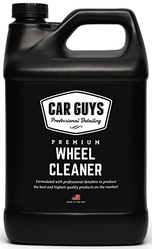 Wheel Cleaner 1 Gallon Bulk Refill – Safe for all Wheels Tires and Rims – Works on Alloy Chrome Aluminum Clear Coated Painted Polished & Plasti Dip – Motorcycle Tire Cleaner by Car Guys Auto Detailing