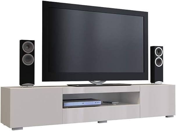 BIM Furniture Chica - Mueble bajo para televisor (200 cm), Color Blanco Brillante: Amazon.es: Hogar