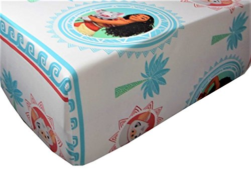 Moana The Waves 100% Microfiber (FITTED SHEET ONLY) Size TWIN Girls Kids Bedding by Jay Franco