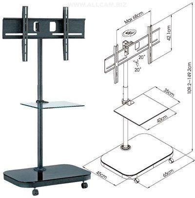 Allcam FS941 52-inch Portable Flat Panel Floor: Amazon.co.uk ...