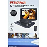 Sylvania 12-Inch Swivel Screen Portable DVD Player with USB and SD/MMC for Digital Files