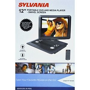 Sylvania 12-Inch Swivel Screen Portable DVD Player with USB and SD/MMC for Digital Files by Sylvania
