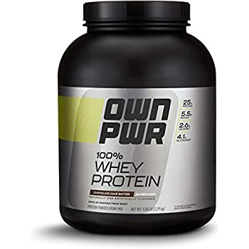 OWN PWR 100% Whey Protein Powder, Chocolate Cake Batter, 25 G Protein, 5 Pound (62 Servings)
