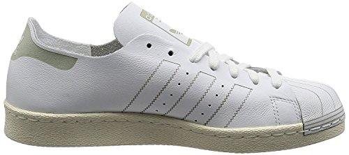 Adidas Originali Mens Superstar Casual Sneake Decostruito Bianco