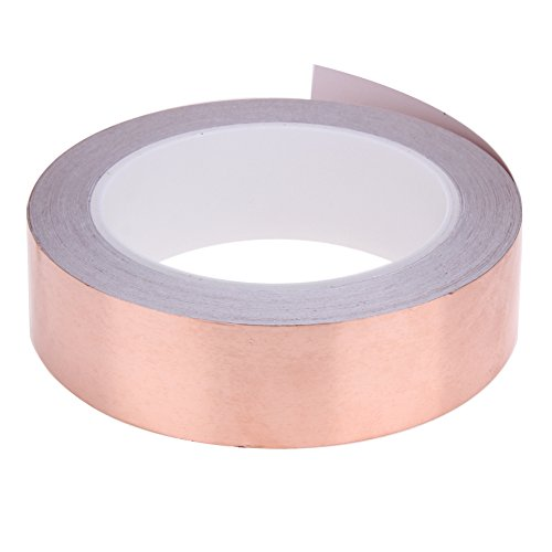 Alloet 20 Meters 30mm Single Conductive Adhesive EMI Shielding Copper Foil Tape for Slug Repellent, Stained Glass by Alloet