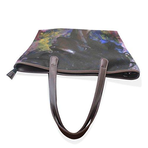 L Cm In Sacchetto Donne Multicolor Borse Coosun Arte Grande Dell'unità Africane 33x45x13 Maniglia 002 Di Pelle Del Elaborazione Della wBq16qA4