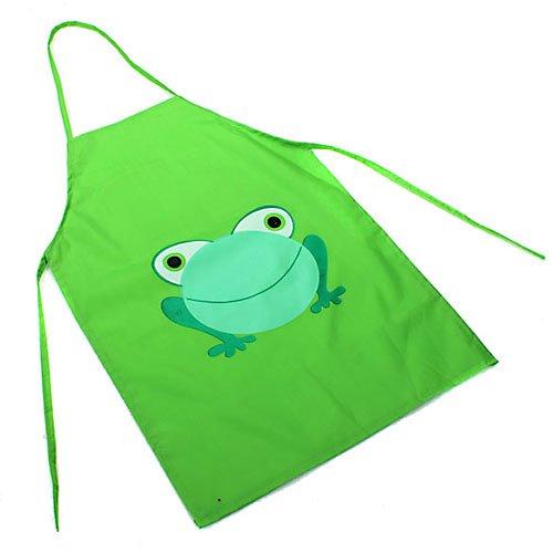 - ruiycltd New year's Gift Kids Children Cute Waterproof Cartoon Frog Printed Painting Cooking Apron Green