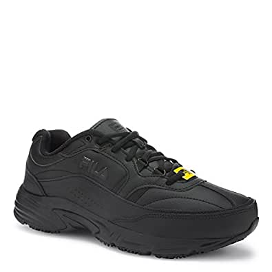 Fila Men's Memory Workshift Cross-Training Shoe,Black/Black/Black,7 4E US