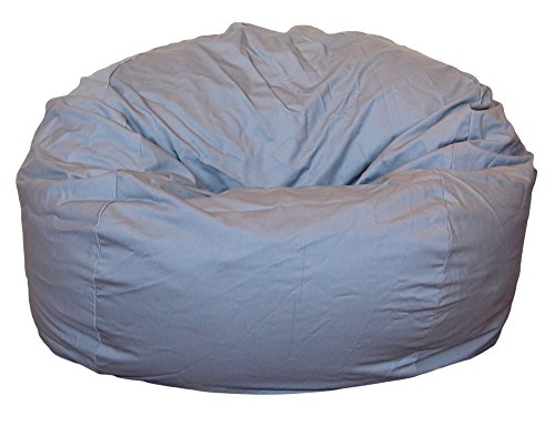 Bag Chair Gray Bean (Ahh! Products Cotton Washable Bean Bag, Light Gray, Large)