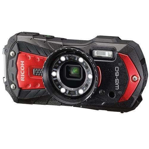 Ricoh WG-60 Waterproof Digital Camera, 2.7'' LCD (WG-60 Red)
