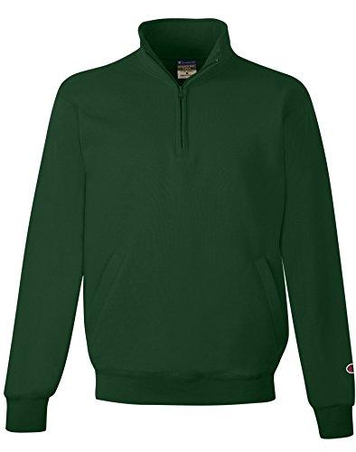 Champion Eco Fleece Men`s 1/4 Zip, S400, L, Dark Green - Dark Green Jacket Fleece