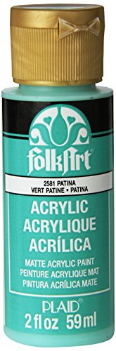 FolkArt Acrylic Paint in Assorted Colors (2 oz), 2581, Patina