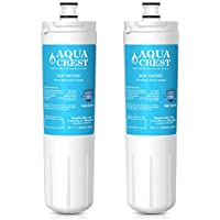 AQUACREST 640565 Replacement Refrigerator Water Filter, Compatible with Bosch 640565 EVOLFLTR10 AP3961137, Whirlpool WHKF-R-PLUS (Pack of 2)